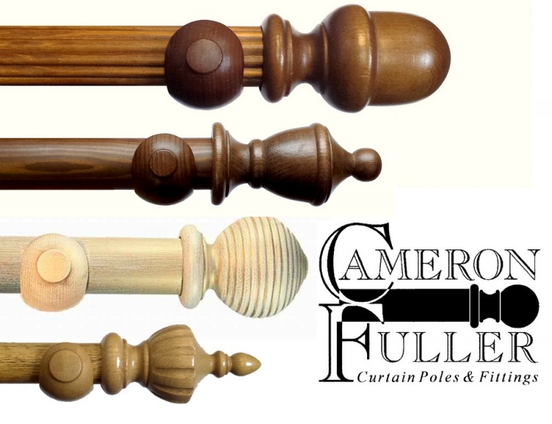 Wooden Curtain Poles Only Stained Painted Curtain