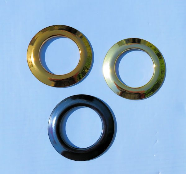 Nylon Metallic Eyelets Bright Finish