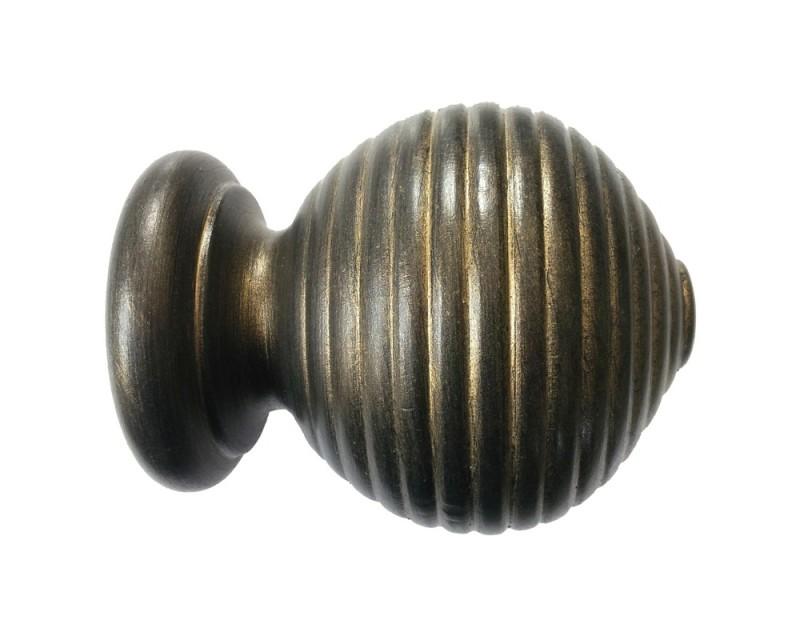 Wooden Finials All Except Ball Amp Cap Metallic Limed