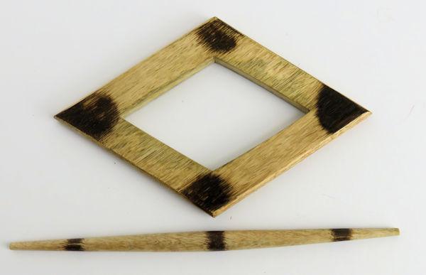 Wooden Diamond Holdback & Pin
