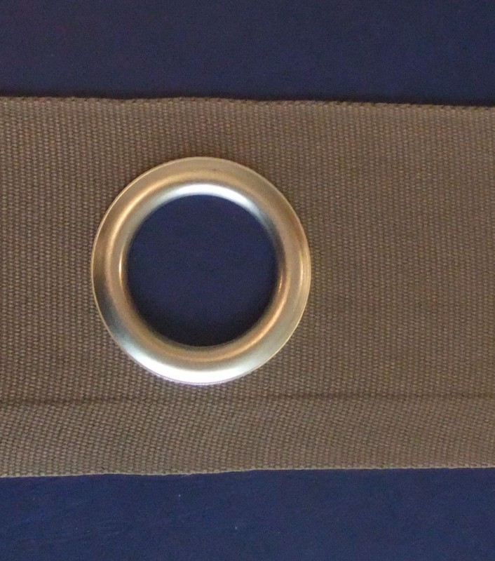 U Curtain Eyelet Tape With 40mm Matt Nickel Eyelets