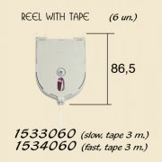 Reel with 3mt Tape