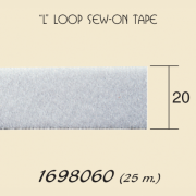 Loop sew on tape