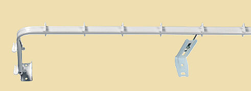 extendible valance rail