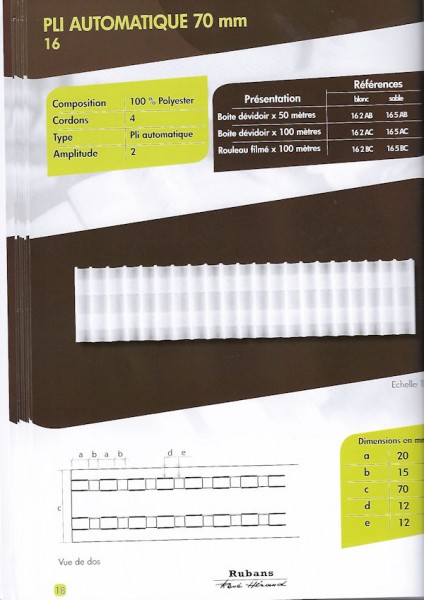 16 – 70mm – Pleating Tape