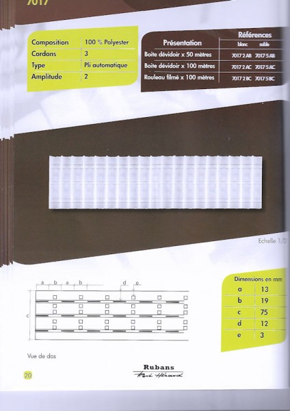 7017 – 75mm – Pleating Tape – Amp 2.0