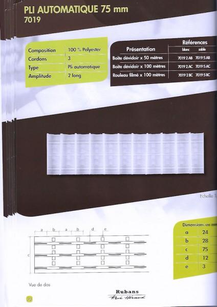 7019 – 75mm – Pleating Tape – Amp. 2.0 Long
