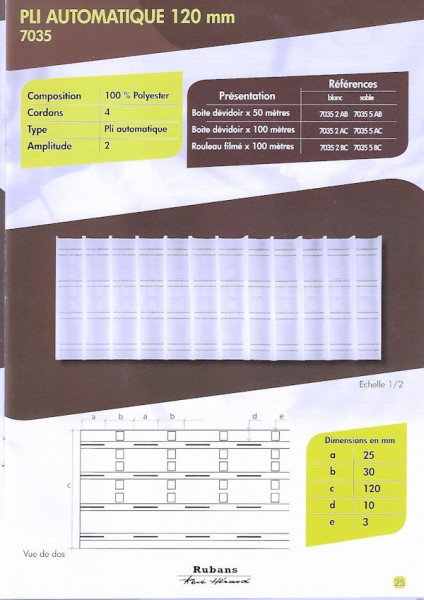 7035 – 120mm – Pleating Tape – amp 2.0