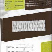 7039 – 85mm – Honeycomb Fold – Pleating Tape