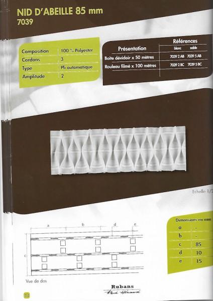 7039 – 85mm – Honeycomb Fold – Pleating Tape