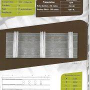 7038 – 120mm – Triple Fold – Transparent – Pleating Tape